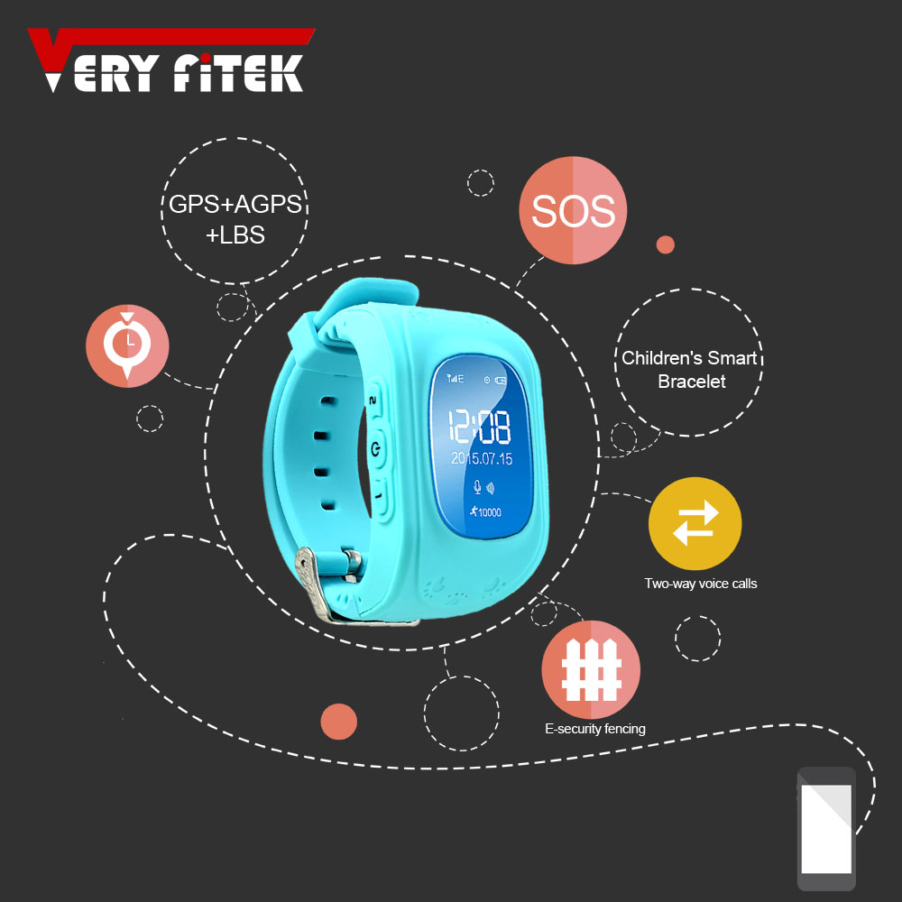 Q50 Smart Watch Kids GPS Tracker Children Wearable Electronic