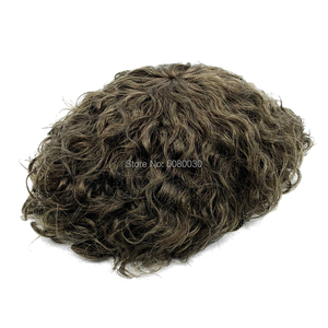Image 5 - Human Hair Mens Hair Piece Toupee Replacement System Remy Hair Mono lace and Poly Bond