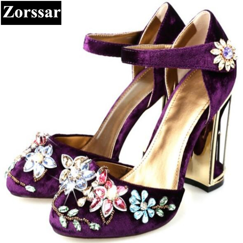 2017 NEW high quality Summer Womens Shoes rhinestone High heels sandals  Women Ankle Strap pumps Wedding shoes BIG SZIE 33-43 2017 new summer women sandals high heels peep toe rhinestone womens wedding shoes fashion crystal ankle strap heels pumps
