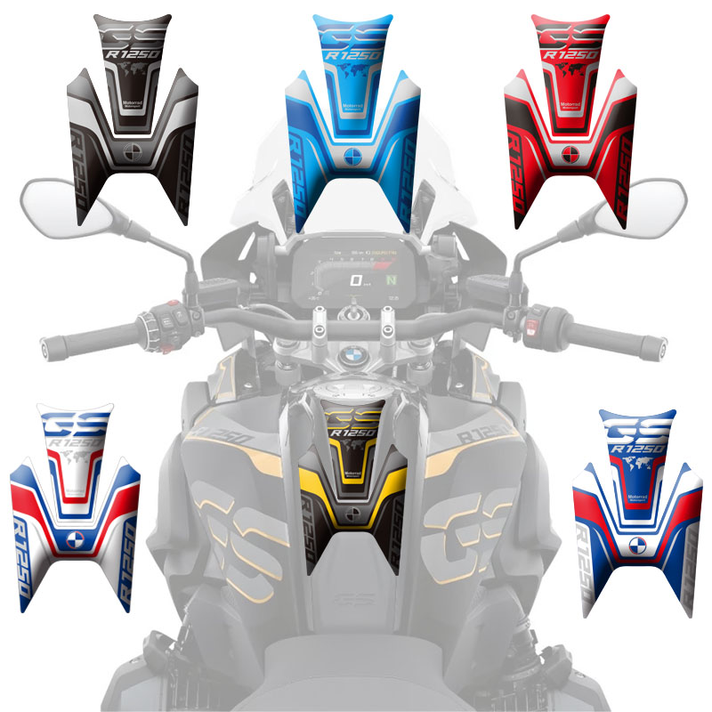 For BMW R1250GS 2018-2019 New Motorcycle Stickers Fuel Tank 3D Rubber Sticker Fishbone Protective Decals