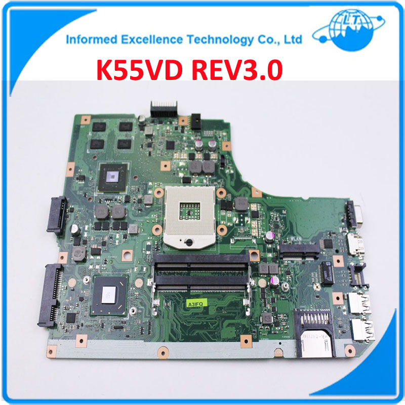 NEW! Non-Integrated Laptop Motherboard for ASUS K55VD REV 3.0 8 Memory Intel HD4000 Nvidia GeForce GT610M 100% Tested OK