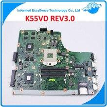 Новинка! Неинтегрированный Материнская плата для ноутбука ASUS K55VD r500vd REV 3.0 GT610M 2 ГБ USB3.0 N13M-GE1-S-A1 HM76 PGA989 DDR3 100% Тесты