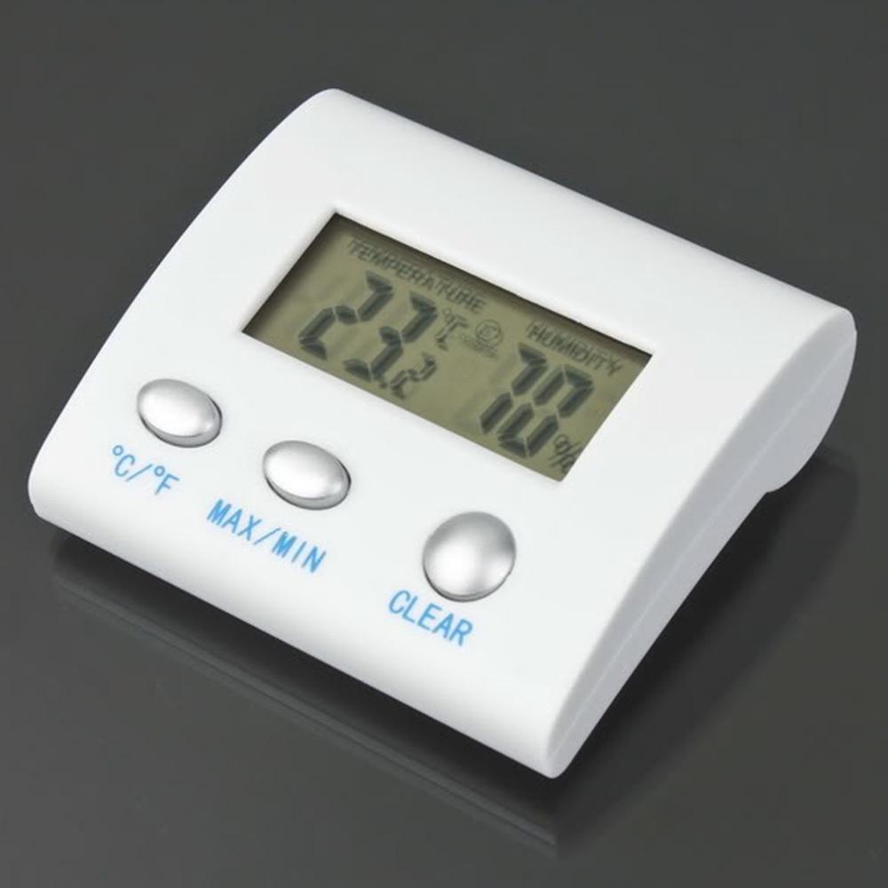 Termometer Kulkas Freezer Lemari Es Dalam Rumah Luar Ruangan Pabrik Hygrometer Putih 1 Pc Wireless Elektronik Lcd Digital Suhu Tester Thermometer Kelembaban Meter Jam Magnetik