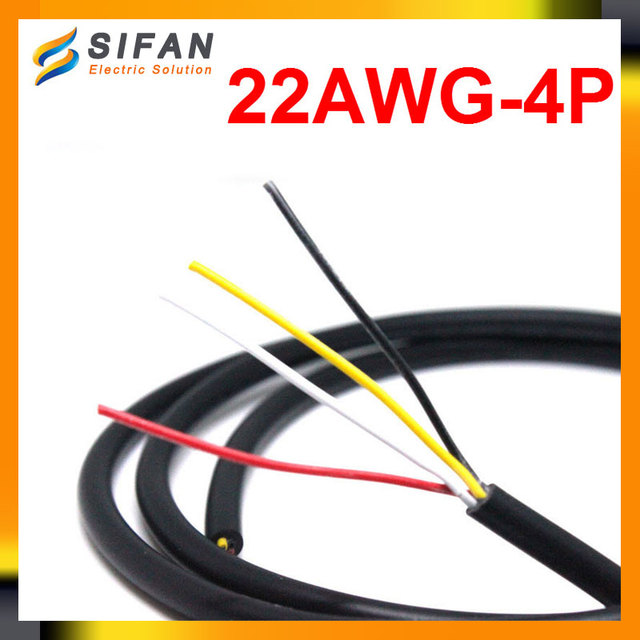 1Meters 22AWG 4P Strand Wire Anti interference Shielded Wire Signal ...