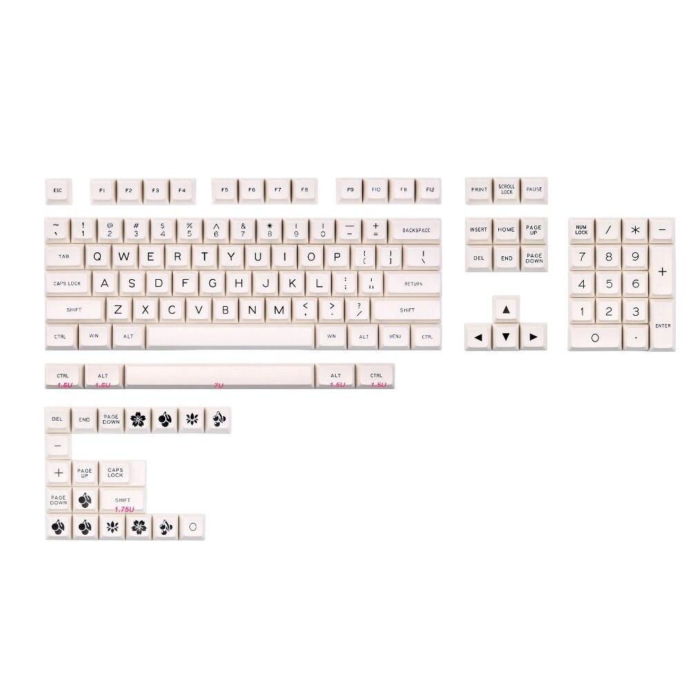 MAXKEY BOW SA keycap Doubleshot ABS 129 keys for cherry mx mechanical keyboard
