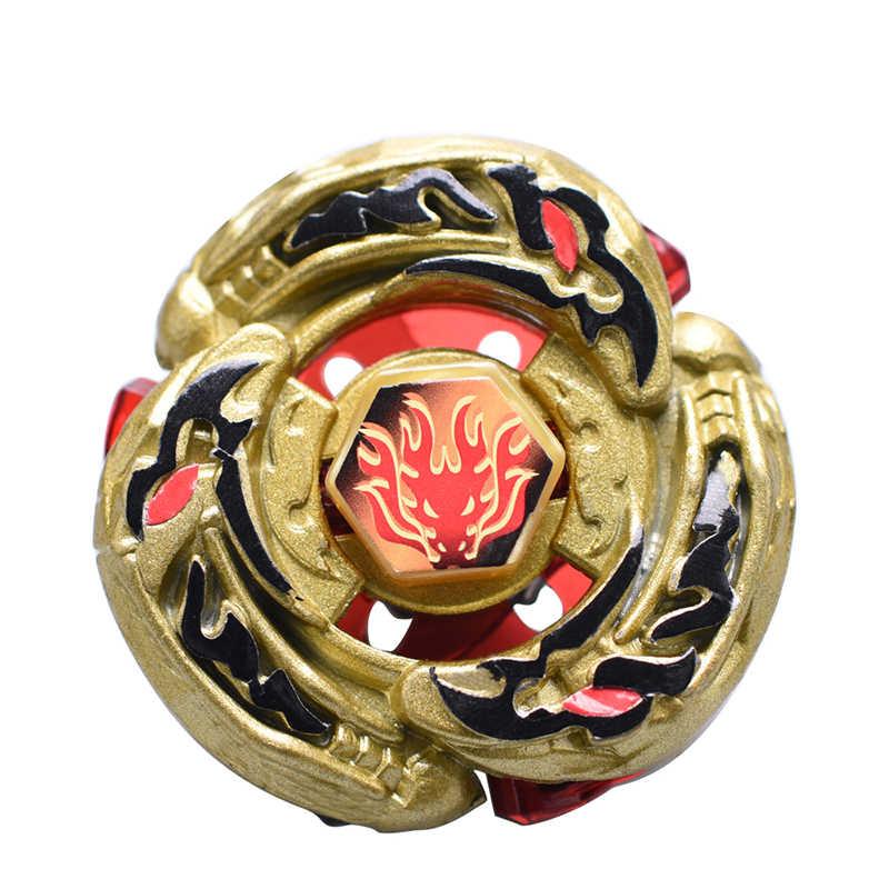 Dragão dourado Tops Spin Explosão Brinquedos 4D Bayblade Com Lançador de Fusão de Metal Spinning Top Brinquedos de Presente Para As Crianças # E