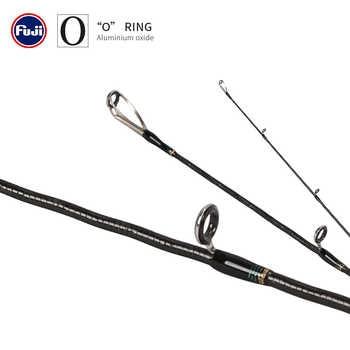 TSURINOYA NEW MYSTERY 1.82m 1.95m Spinning /Casting Fishing Rod UL/L 2 Section Fishing Rod FUJI Accessories Pesca Tackle Stick