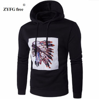 Men S Hooded Brand High Quality Casual Hooded Sweatshirt Men S 2016 New Paste Cloth Characters