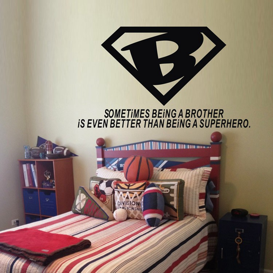 Brother is even better than superhero warm quotes vinyl wall brother is even better than superhero warm quotes vinyl wall decals home boys room wall sticker decor in wall stickers from home garden on amipublicfo Images