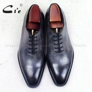 Image 4 - cie square plain toe whole cut patina grey 100%genuine calf leather outsole breathable mens shoe bespoke leather men shoe ox509