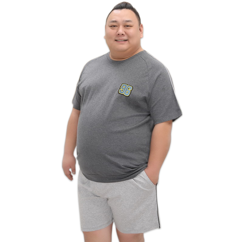 Plus size 140KG 5XL short pyjama set man pajamas summer 100 cotton pajama for men short