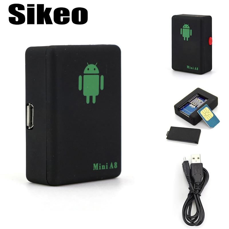 Sikeo Mini A8 LBS GSM font b Car b font Tracker GSM GPRS Tracker Tracking Device