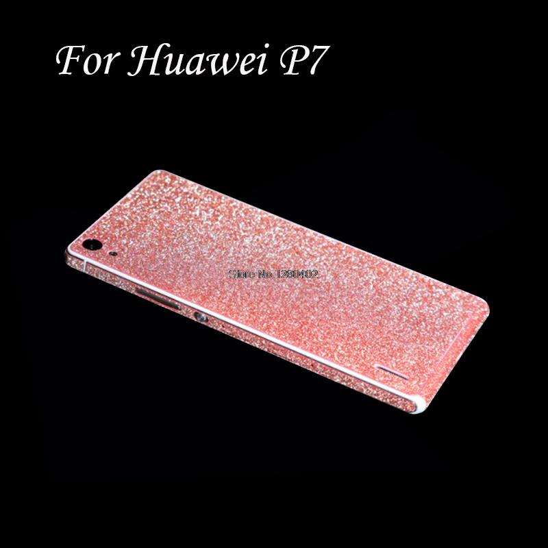 Full Body Protection Glitter Bling Sticker Case Huawei Ascend P7 Strass Coque Luxury Shining Skin Cover Funda - ShenZhen JS Co., Ltd store