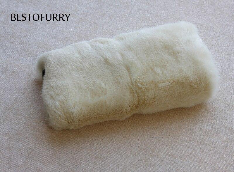 Mujeres Unisex de los hombres de moda de invierno de piel de conejo Real mano manguito calientamanos FO0004 - 3