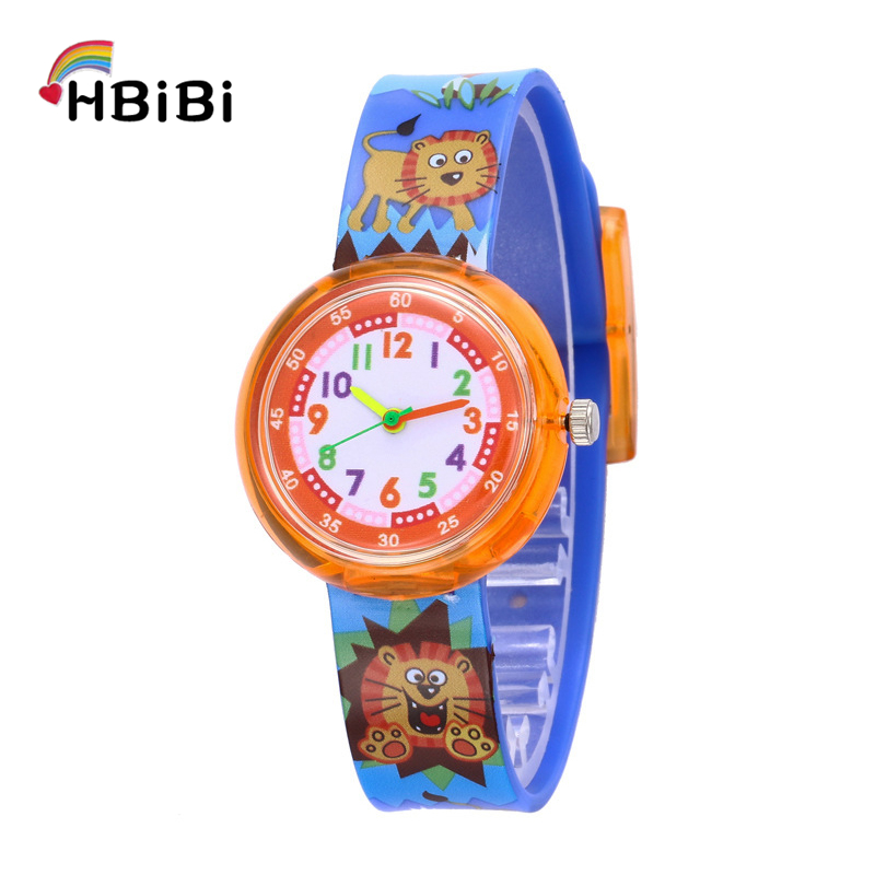 New Exclusive Release Unicorn Children Watches Kids Cartoon Dinosaur Lion Silicone Child Watch For Student Baby Boys Girls Clock