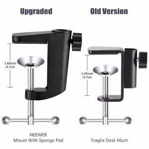 Image 5 - Держатель для микрофона Neewer NB 35, микрофонное крепление с подвесом и зажимом, закрепляется на столе, поп фильтр для защиты от ветра