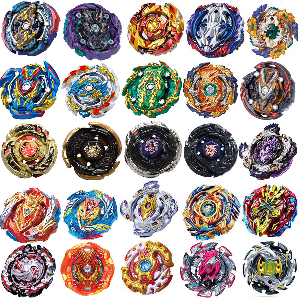 New <font><b>Burst</b></font> Launchers <font><b>Beyblade</b></font> Toys B-139 B-140 B-142 B-143 Bayblade Toupie Metal <font><b>Burst</b></font> God Spinning Top Bey Blade Blades Toy image