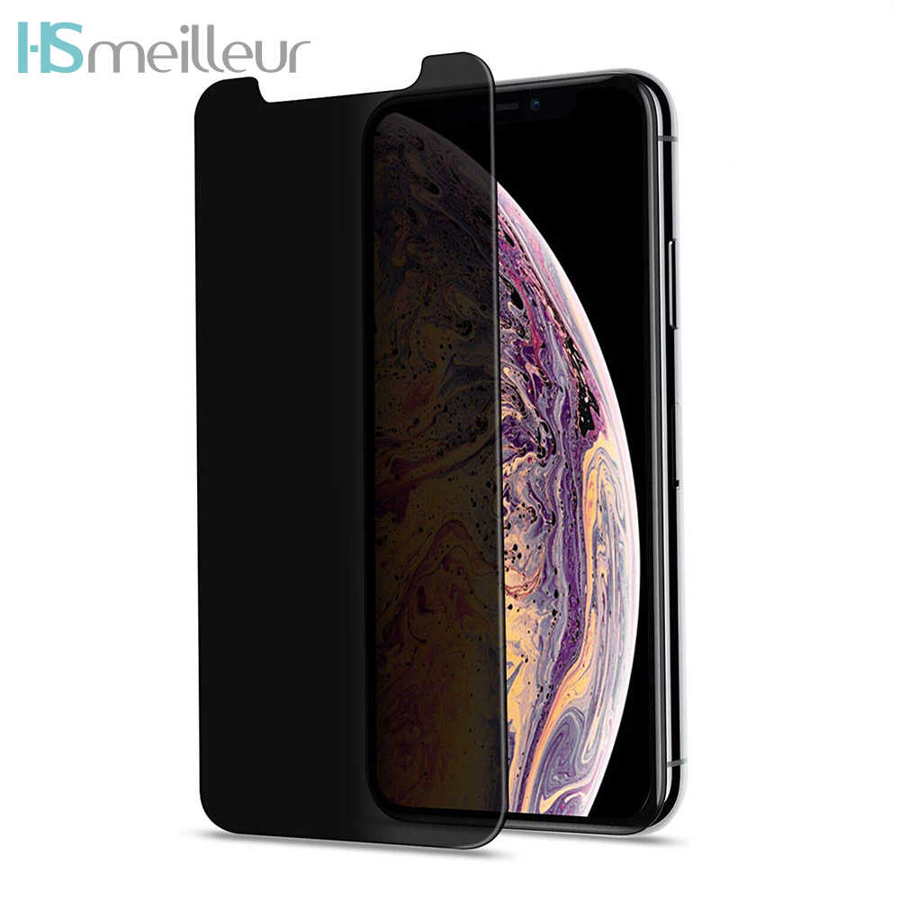 Hsmeilleur Privacy Screen Protector For iPhone XR Anti Spy Anti-Glare Tempered Glass Film Protetor For Apple iPhone XS Max X 8 7