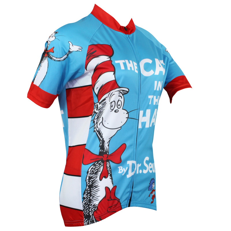 697c28ace AlienSportsWear Classic Style THE CAT IN THE HAT by Dr.Seuss Mens Cycling  Jersey Bike Shirt Free Shipping Size 2XS To 5XL-in Cycling Jerseys from  Sports ...