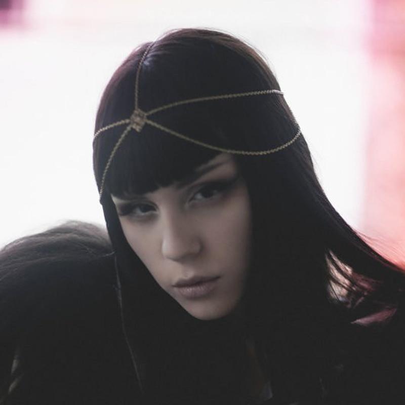 2018 Crown Tassel Retro Goddess Wearing Head Head Chain Headband