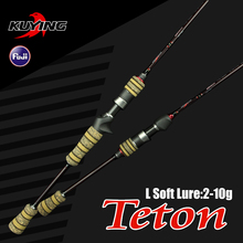 KUYING Teton 1.98m L Casting Spinning Lure Carbon 2 Sections Fishing Rod Pole With FUJI Ring Medium Fast Action Free Shipping