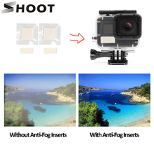 SHOOT 12Pcs Anti Fog Inserts for GoPro Hero 9 8 7 6 5 Black Sjcam Xiao Yi 4K Action Camera Waterproof Case for Go Pro Accessory