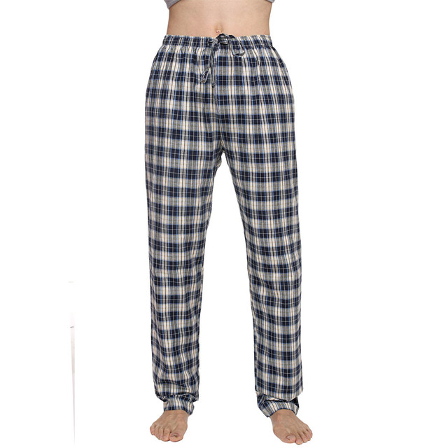 Avidlove Men Multicolor Plaid Sleepwear Lounge Pajamas Male Pants Trousers