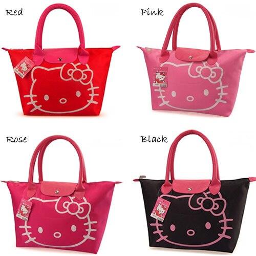 1a28f3cce2 Promotion 2015 Hot Sale Women s Fashion handbags Hello kitty Foldable  Oxford bags Lovely Shoulder bag for girls Cartoon handbag