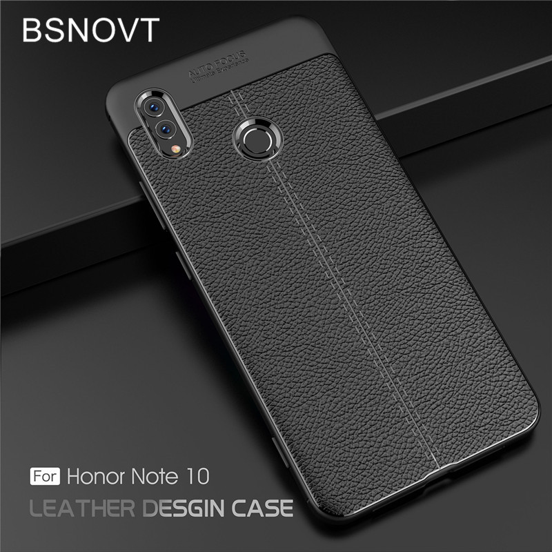 For Huawei Honor Note 10 Case Soft Silicone Leather Anti knock Phone Case For Huawei Honor Note 10 Cover For Honor Note 10 Case in Fitted Cases from Cellphones Telecommunications