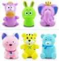 6 pçs/set PVC Brinquedos para o Banho, Aperto clássico-soando Brinquedo Banheira, Animais coloridos Dabbling Brinquedo,