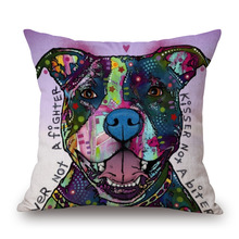 Oil Painting Pillow Covers with Dogs and Cats