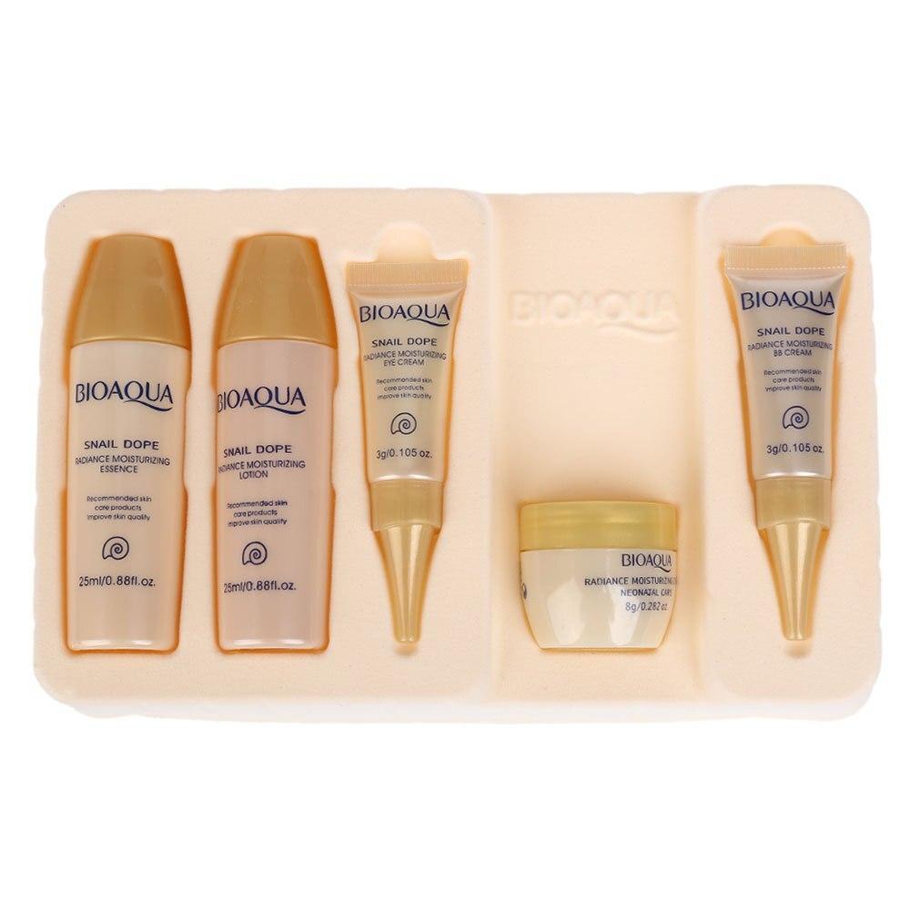 новое поступление 5 шт. boquan улитка осветляющий пять шт образец увлажняющий набор набор красоты уход за кожей наборы