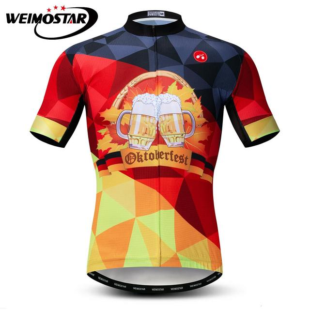 German Men Short Sleeve Summer Cycling Jersey Clothing MTB Print Beer Bike  Wear Ropa ciclismo Maillot Outdoor Bicycle Jersey d32202bab