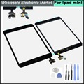 100% Guarantee Original Complete For Ipad Mini Touch Digitizer Screen + IC Flex Chip+Tools + Home Button Flex Black