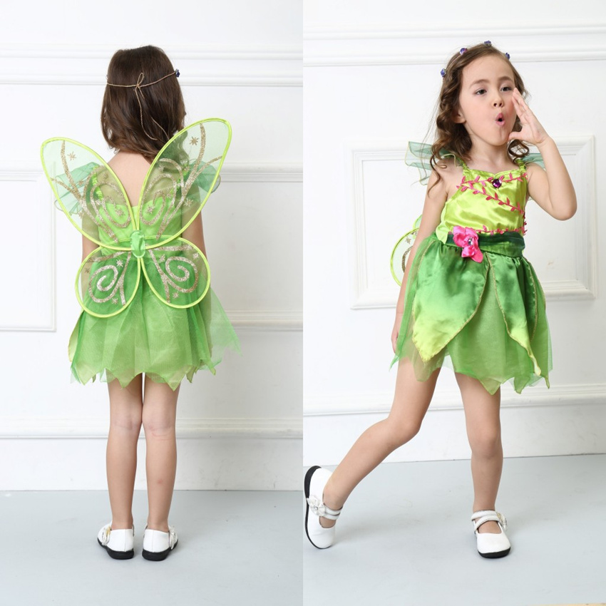 Children Girlu0027s Deluxe Green Tinkerbell Fairy Costume Tinker Bell Princess Fancy Dress Halloween Cosplay Clothing-in Girls Costumes from Novelty u0026 Special ...  sc 1 st  AliExpress.com & Children Girlu0027s Deluxe Green Tinkerbell Fairy Costume Tinker Bell ...