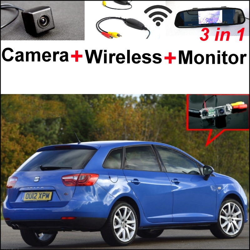 For SEAT IBIZA ST 6J 2009~2016 3 in1 Special Rear View Wifi Camera + Wireless Receiver + Mirror Monitor DIY Parking System tk lighting настольная лампа tk lighting 647 inka 1