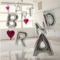 1pcs 16'' Cute Silve Alphabet Letters Helium Balloons Foil Balloon Birthday New Year xmas party Supplies Decoration Ballon
