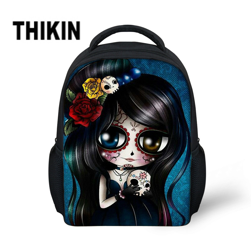 THIKIN Cartoon Cool Skull Printing Backpacks Children Kindergarten Cute Mini Book Backpack Kids Toddler Schoolbags for Girls(China)