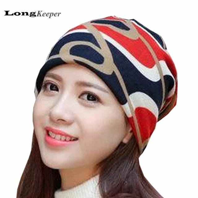 LongKeeper Brand New Womens Hats Winter Beanies Woman Slouch Warm Hat Mens Ladies  Cap Navy Bonnet 2017 Fashion 9cb8a9410cf