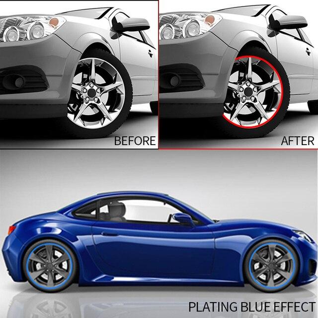Автомобильная наклейка на обод колеса хромированное Украшение колеса автомобильные шины покрытые полосы защита украшения автомобиля-Стайлинг внешние аксессуары