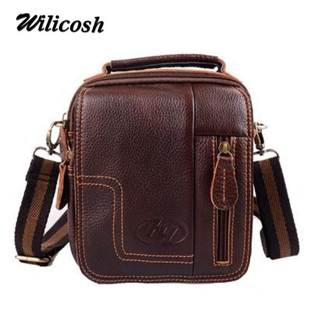 65c3826274a6 2016 Fashion New Handbags Men Messenger Bags Men s Vintage Shoulder  Crossbody Bag Male travel Genuine Leather