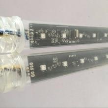 10 шт. DMX512 360 градусов 3D светодиодный цифровой Метеор трубки; освещение-водопад трубки; 1,0 м длиной; 16 пикселей/Каждая трубка; IP65; DC12V; диаметр 30 мм