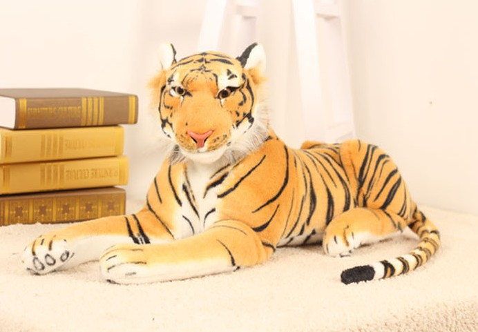 Plush Tiger Toys Lovely Stuffed Doll Animal Pillow Children 43cm size  Kids Birthday Gift New Hot Selling huge 105cm prone tiger simulation animal white tiger plush toy doll throw pillow christmas gift w7973