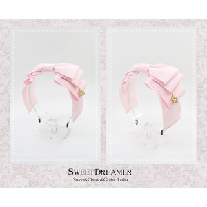 Image 5 - Sweet Layered Bow Lolita Hairband Ribbon Headpiece With Cage Pendant by SweetDreamer