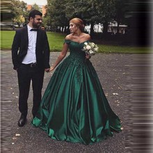 Elegant Satin Evening Dresses Long Lace Sweetheart Gowns Party Robe De Soiree Sexy Formal