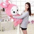 80 CM 2015 nuevos llegados niña peluche juguetes de peluche cojín almohada muñeca vestido de princesa conejo WJCX cumpleaños del niño del bebé regalo de los niños