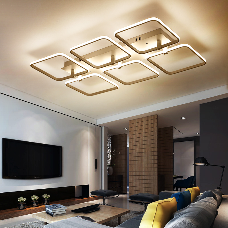 New modern led ceiling chandelier lights for living room bedroom square art Indoor acrylic Ceiling chandelier Lamp Fixtures acrylic modern led chandelier lights for living room bedroom square indoor ceiling chandelier lamp fixtures90 260v
