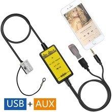 Автомобиль USB AUX аудио Mp3 адаптер cd-чейнджер адаптер для Volkswagen Tiguan 2007-2011, Touareg 2002-2011