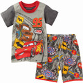 Baby Clothes Boy Clothing Set 2016 Hot Spider-man Cars Summer T-shirt +pant Shorts sets Outfits Clothes 1-7 yrs.