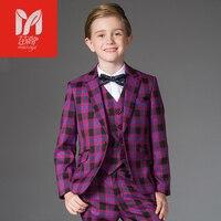 Детские комплекты одежды для отдыха для маленьких детей костюмы для мальчиков Пиджаки для женщин платье жилет праздничная одежда джентльм
